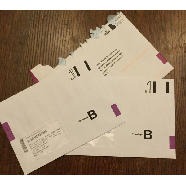 Postal voting packs